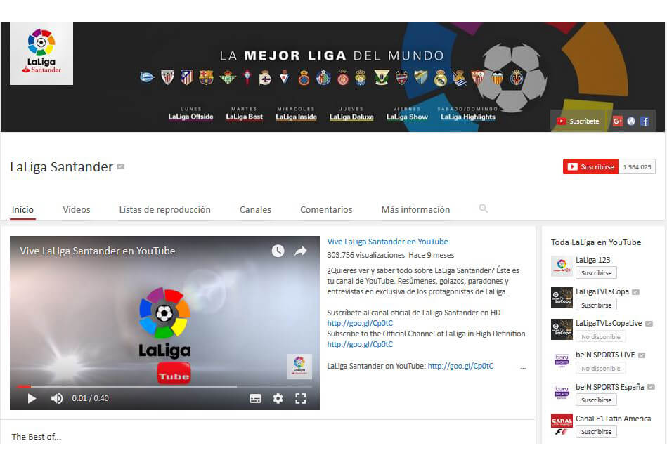 la liga youtube 22 july 2017