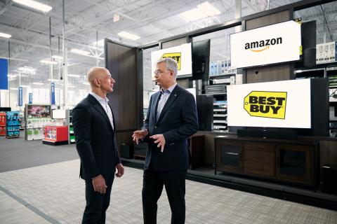 Amazon, Best Buy Partner to Sell Smart TVs