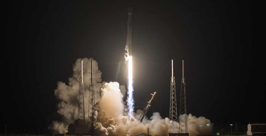SpaceX SES 12 launch lights up the night