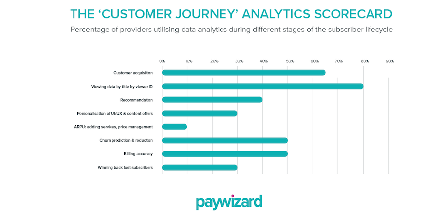 Paywizard Customer analytics graph