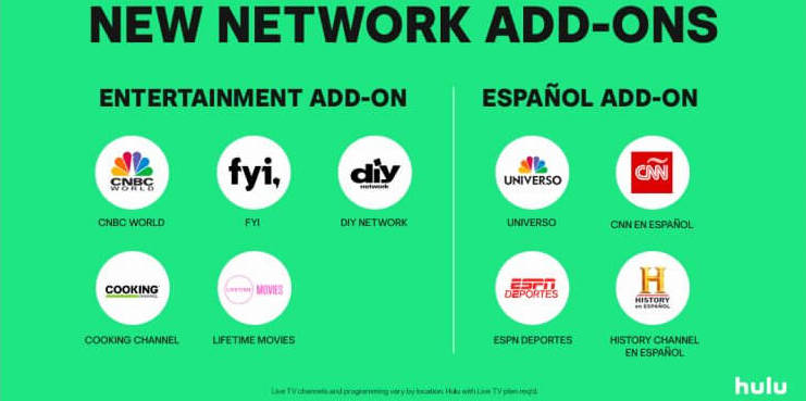 Hulu beefs up skinny TV with Spanish and lifestyle add-ons | OTT