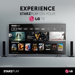 STARZ PLAY Service Now Available on LG Smart TVs EN