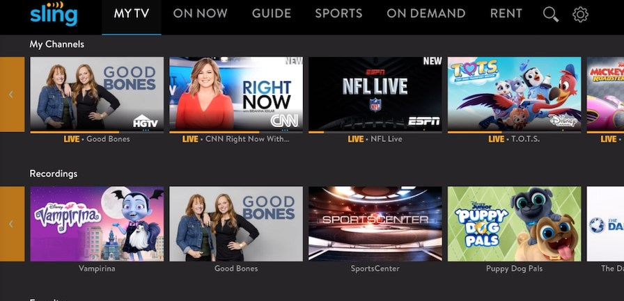 Sling TV Cloud DVR 24Dec2019