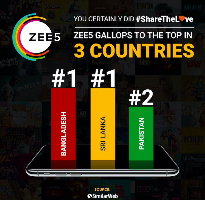 ZEE5 claims entertainment leadership thanks to #Sharethelove