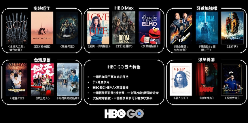 HBO GO Taiwan 3July2020
