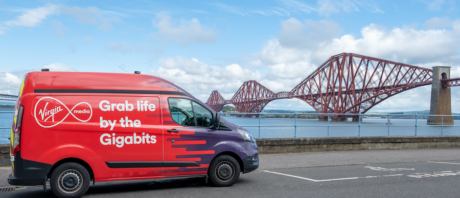 Virgin Media giga Edinburgh 2JUly2020