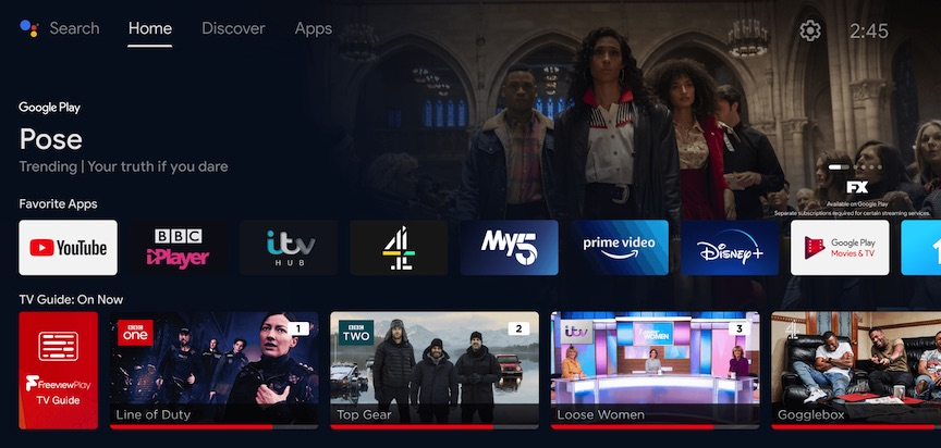 AndroidTV Freeview Play 7 May 2021