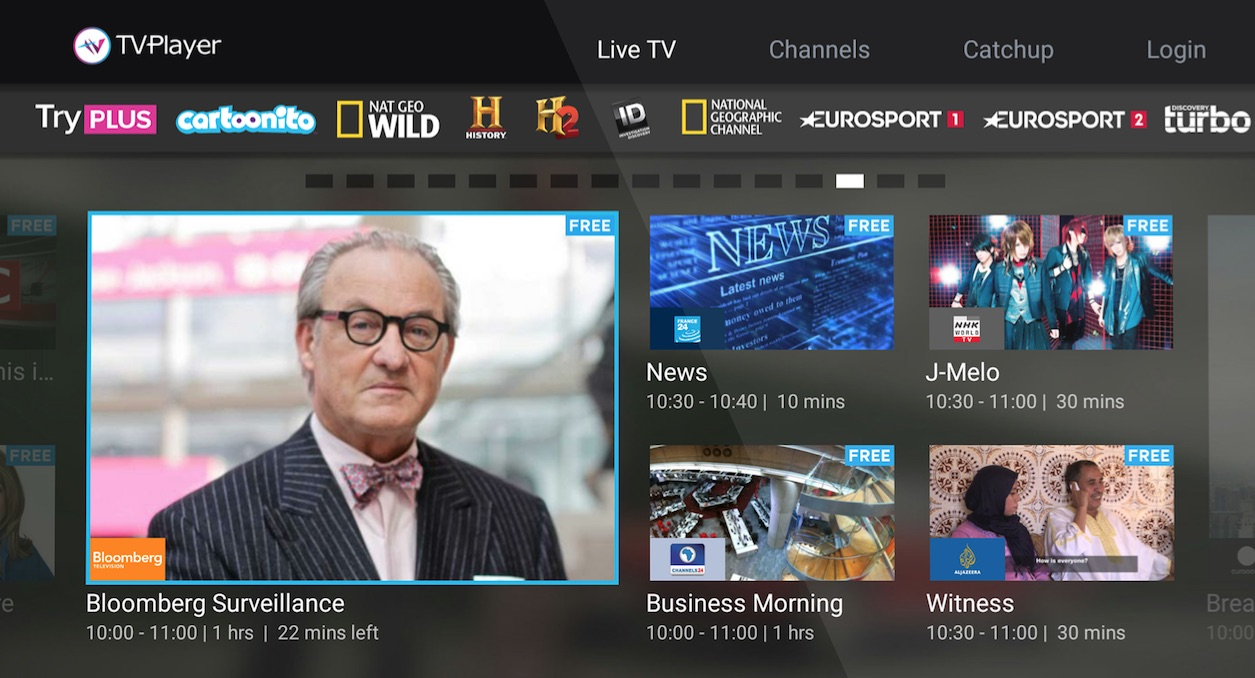 Bloomberg Television Launches On Tvplayer Streaming