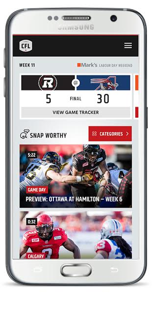 canadian football league adds 3d game tracker to mobile app mobile