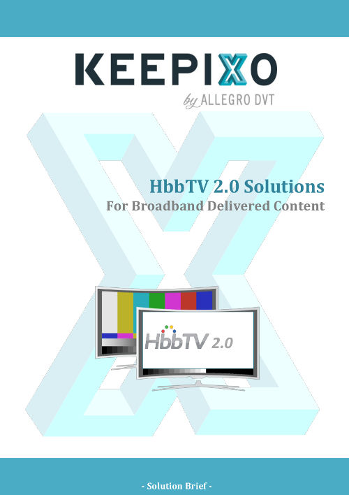 HbbTV 2.0 Solutions For Broadband Delivered Content